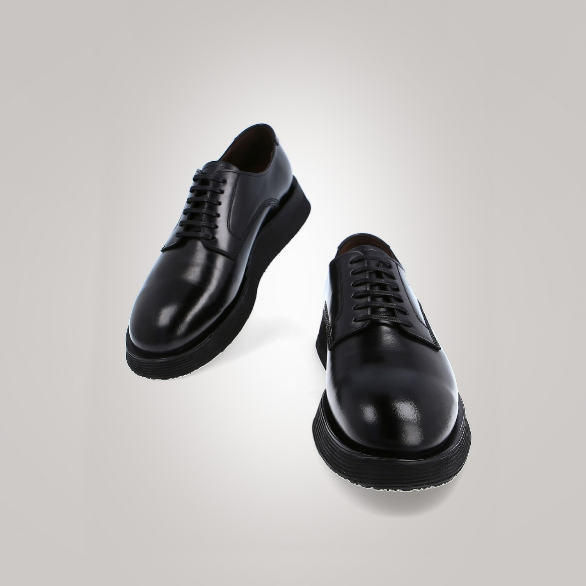 NOIR 3[Premium Plain toe Derby] (Black)